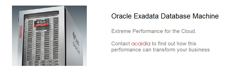 Oracle Database Appliance from Acardia